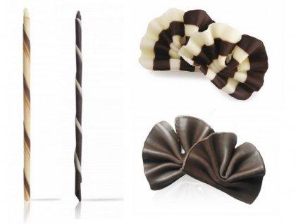 Čokoládové dekorácie SET 4 druhy 90 ks