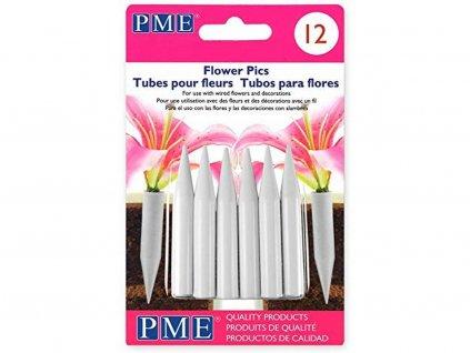 Zápichy na kvety do torty malé 12 ks