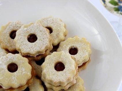 Domáce linecké pečivo plnené marmeládou 200g 2