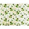 Darčekový baliaci papier zelený štvorlístok s lienkou