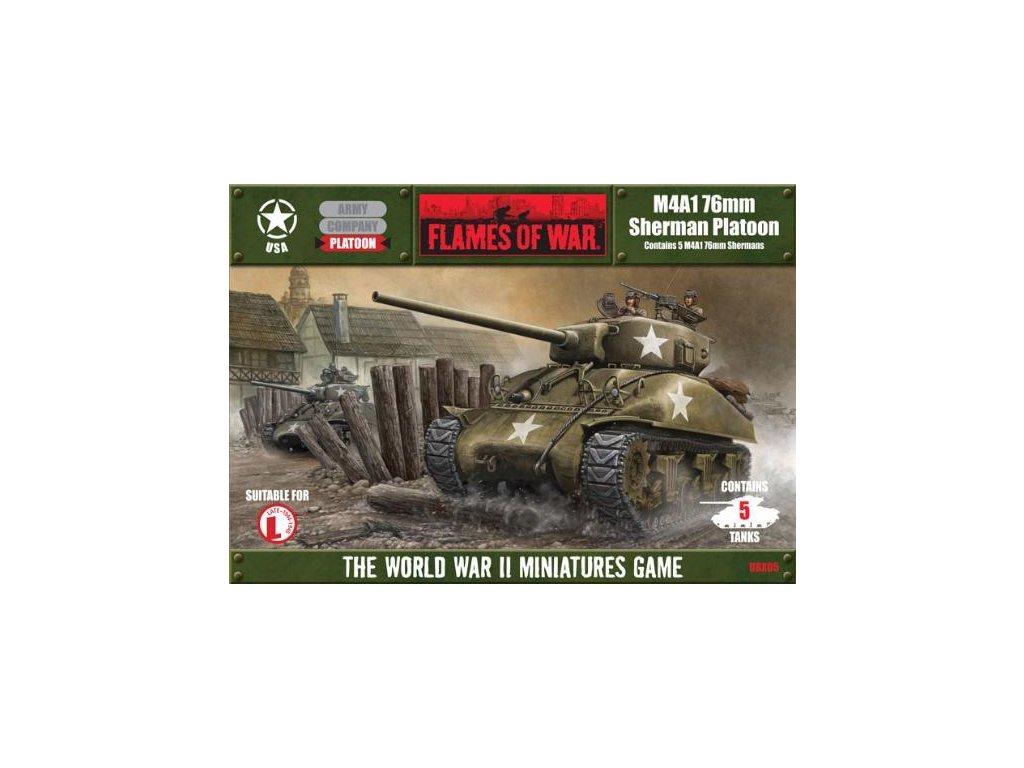 Flames of War M4A1 76mm Sherman četa tanků