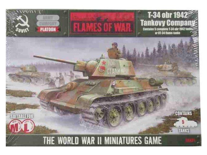 Flames of War T-34 vz. 1942 rota tanků