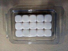 Kostky Sada Blanc 16mm Bílé