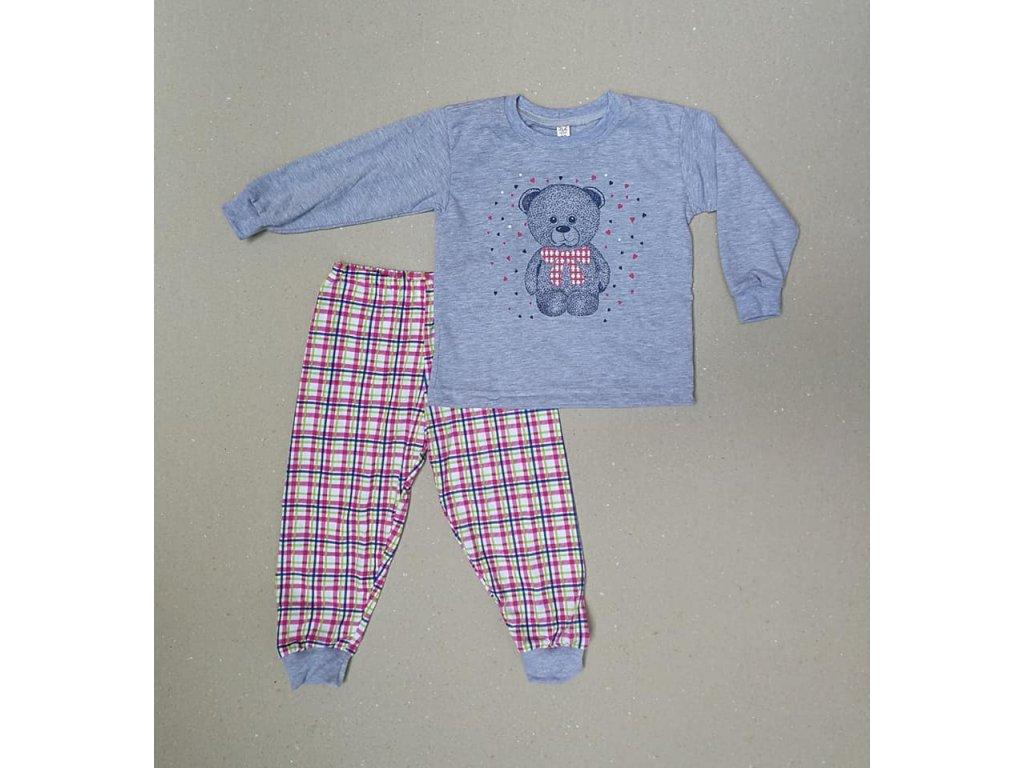 bm pyžamo medvidek šedé