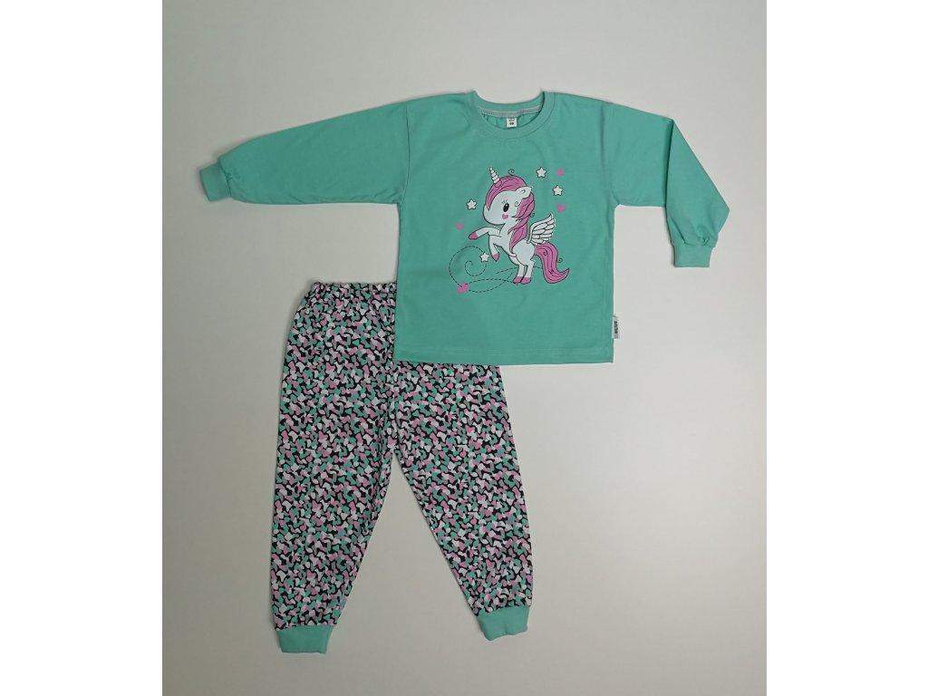 bm pyžamo mátová jednorožec