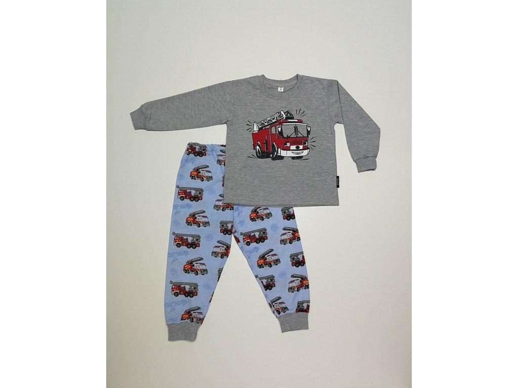 bm pyžamo hasič šedý