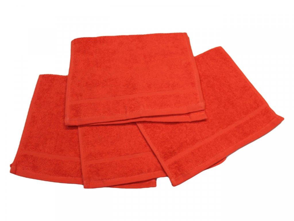 Dětský ručník pro mateřské školy 30x50 cm červený 1