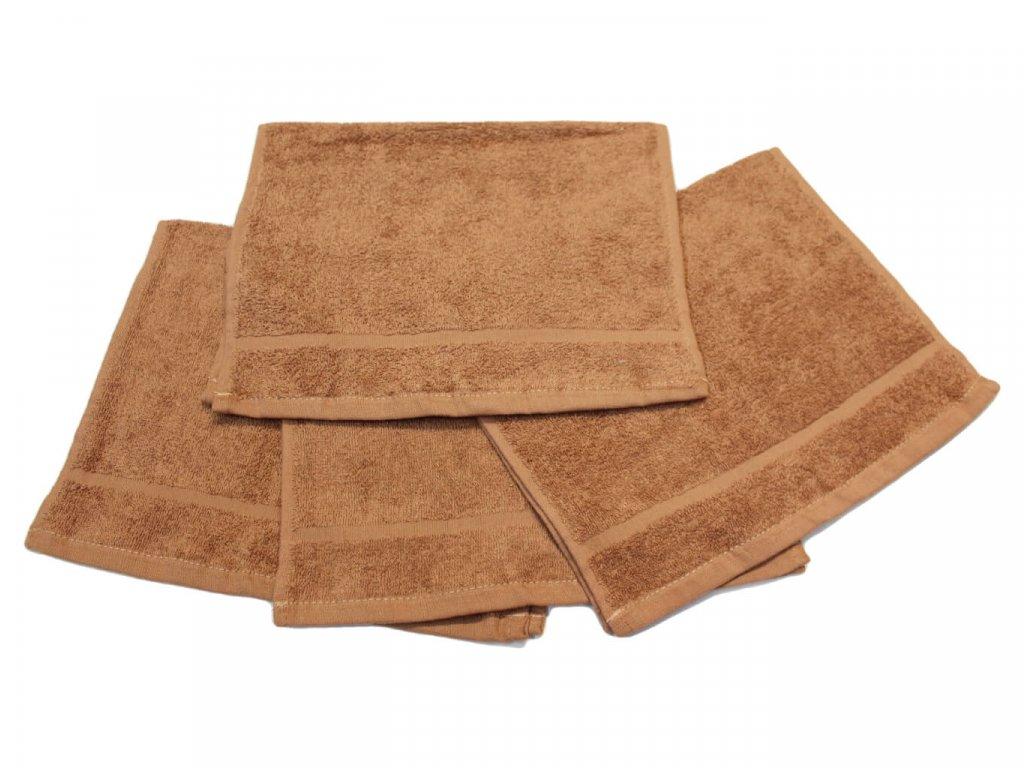 Dětský ručník pro mateřské školy 30x50 cm hnědý 1