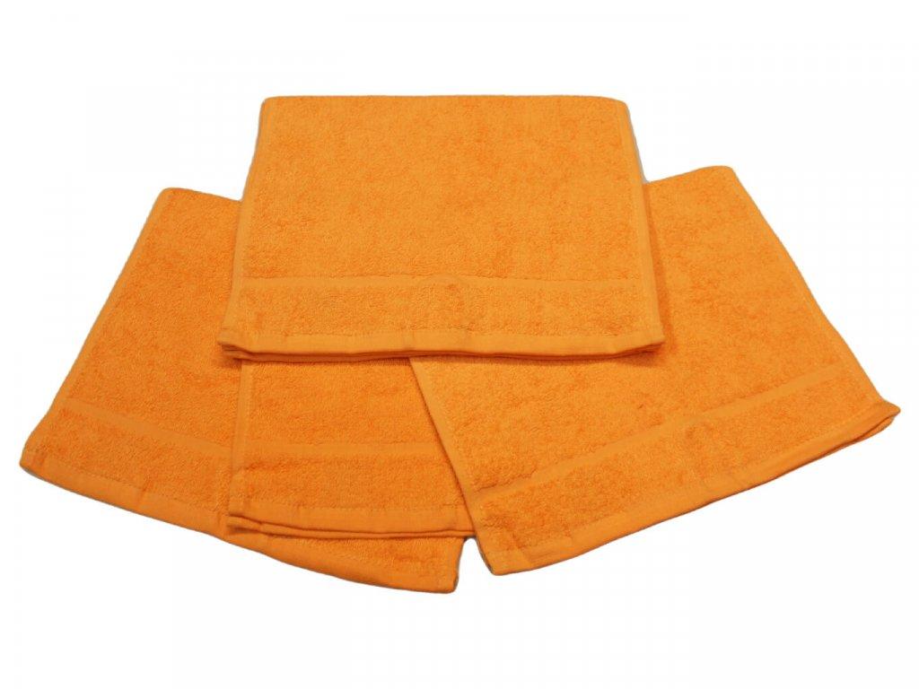 Dětský ručník pro mateřské školy 30x50 cm Oranžový 1