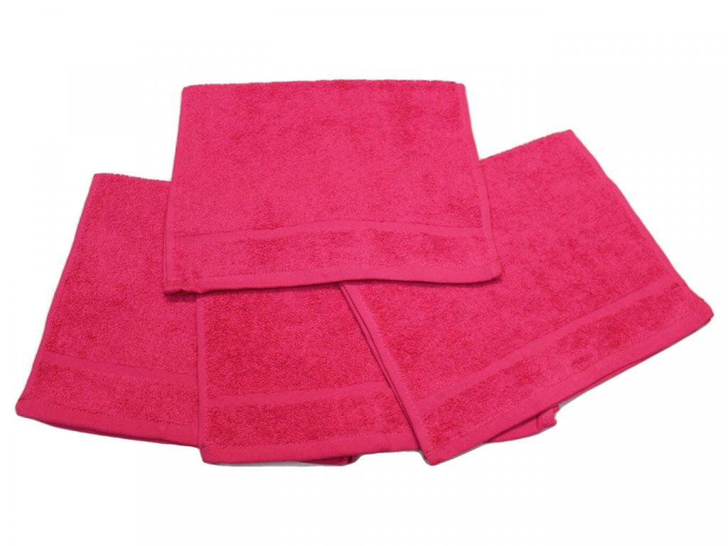 Dětský ručník pro mateřské školy 30x50 cm Purpurový 1