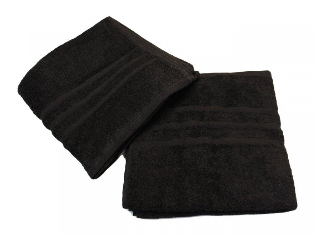 Ručník pro paní učitelky 50x100 cm černý 1