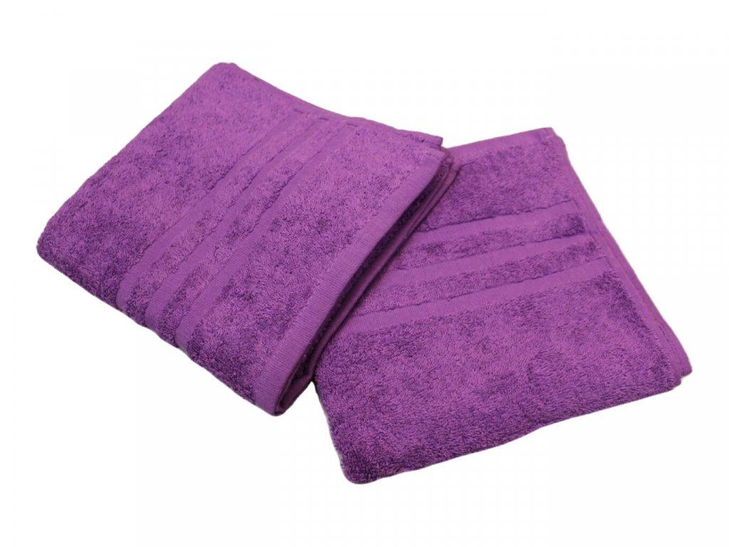 Ručník pro paní učitelky 50x100 cm fialový 1
