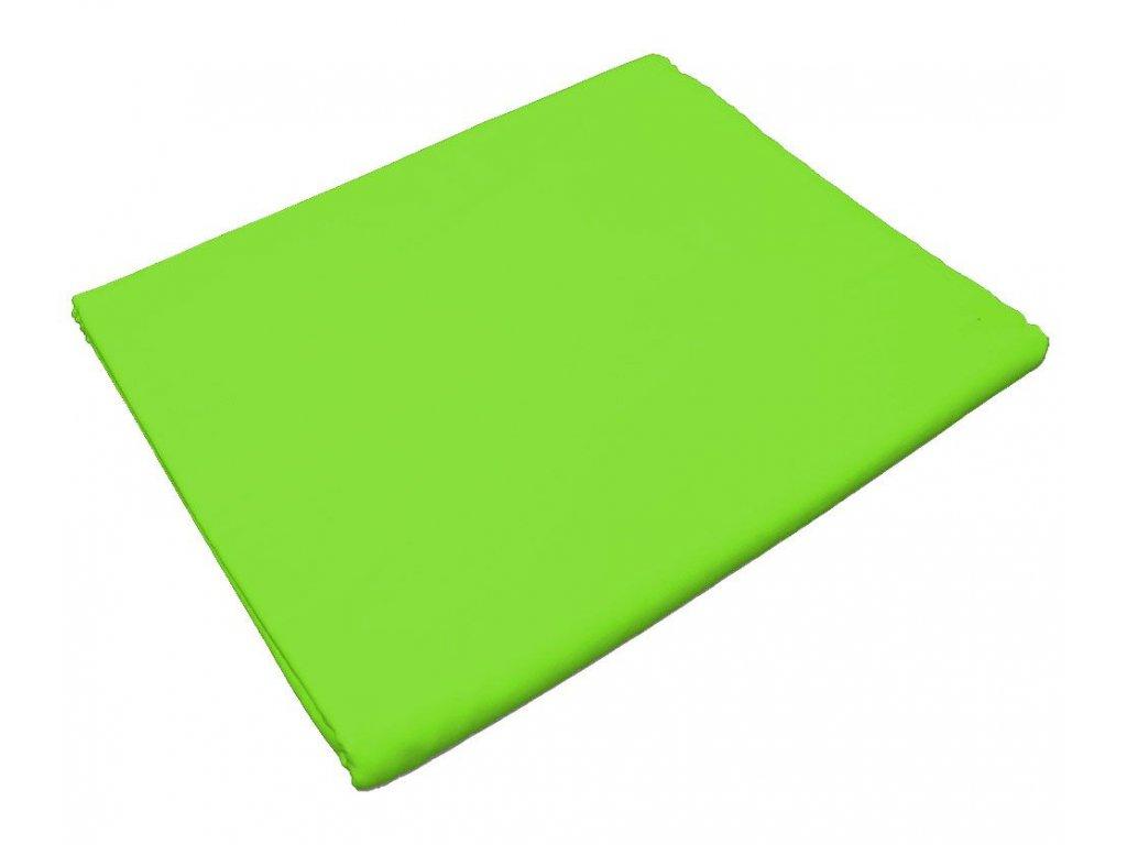 Bavlněné prostěradlo do školky Zelená s gumou