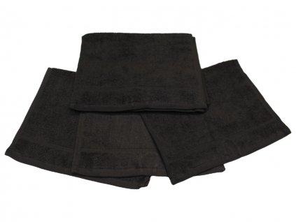 Dětský ručník pro mateřské školy 30x50 cm černý 1