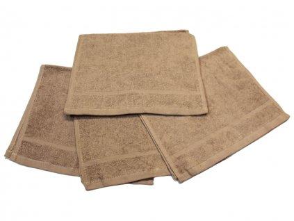 Dětský ručník pro mateřské školy 30x50 cm Béžový