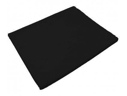 Bavlněná plachta do školky - Černá bez gumy