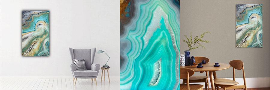 Geode Art - obraz v tyrkysové náladě