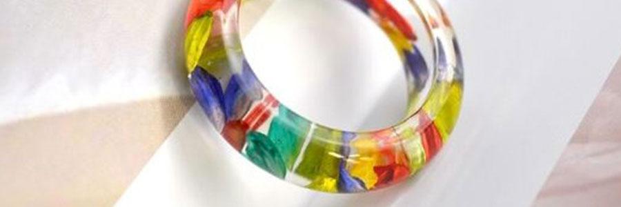 Šperky z pryskyřice - náramky a prsteny