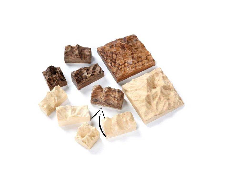 Reliéf dřevěný pro zalití pryskyřicí A88-04