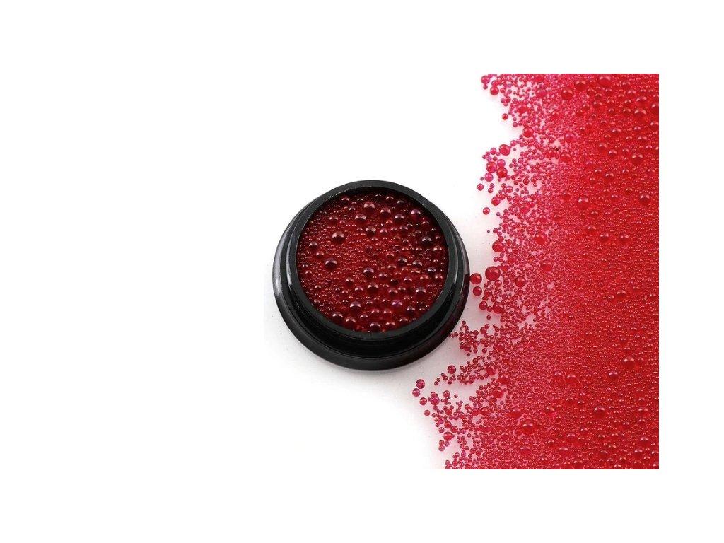dekoracni material do pryskyrice cervena
