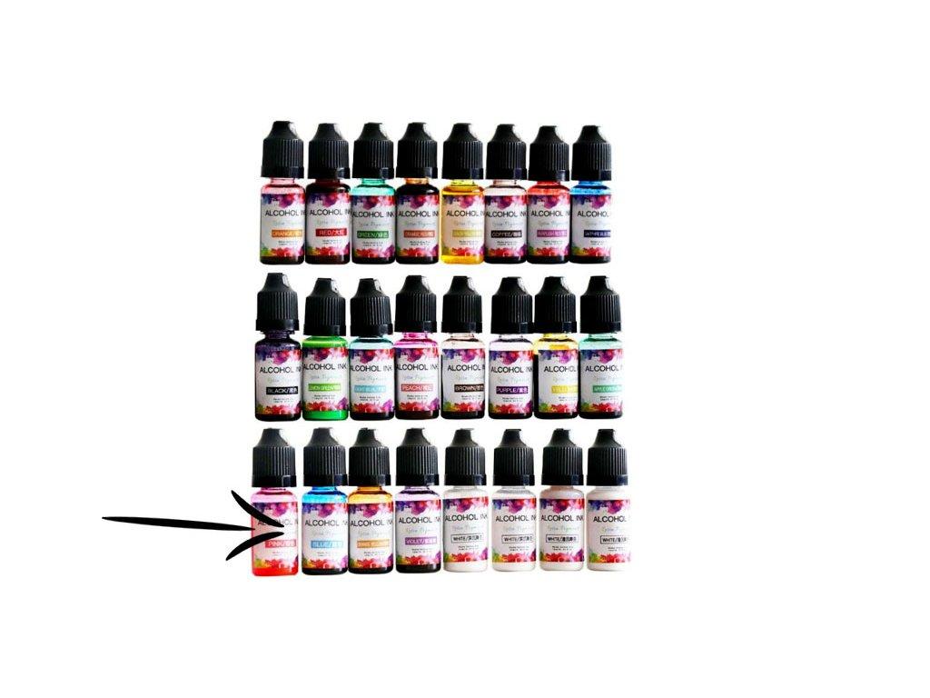 alkoholovy inkoust do pryskyrice pink
