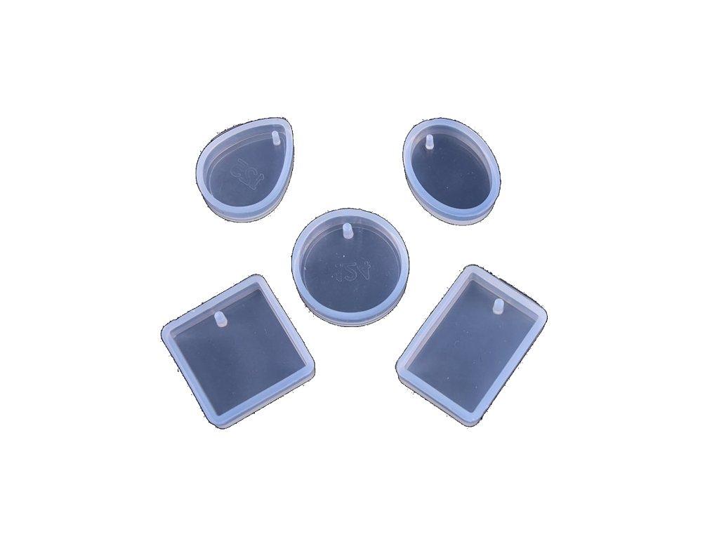 silikonova forma sada 5 privesek