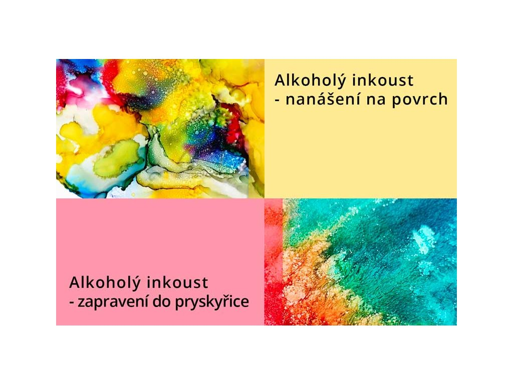alkohol inkoust pigmnet do pryskyrice a b