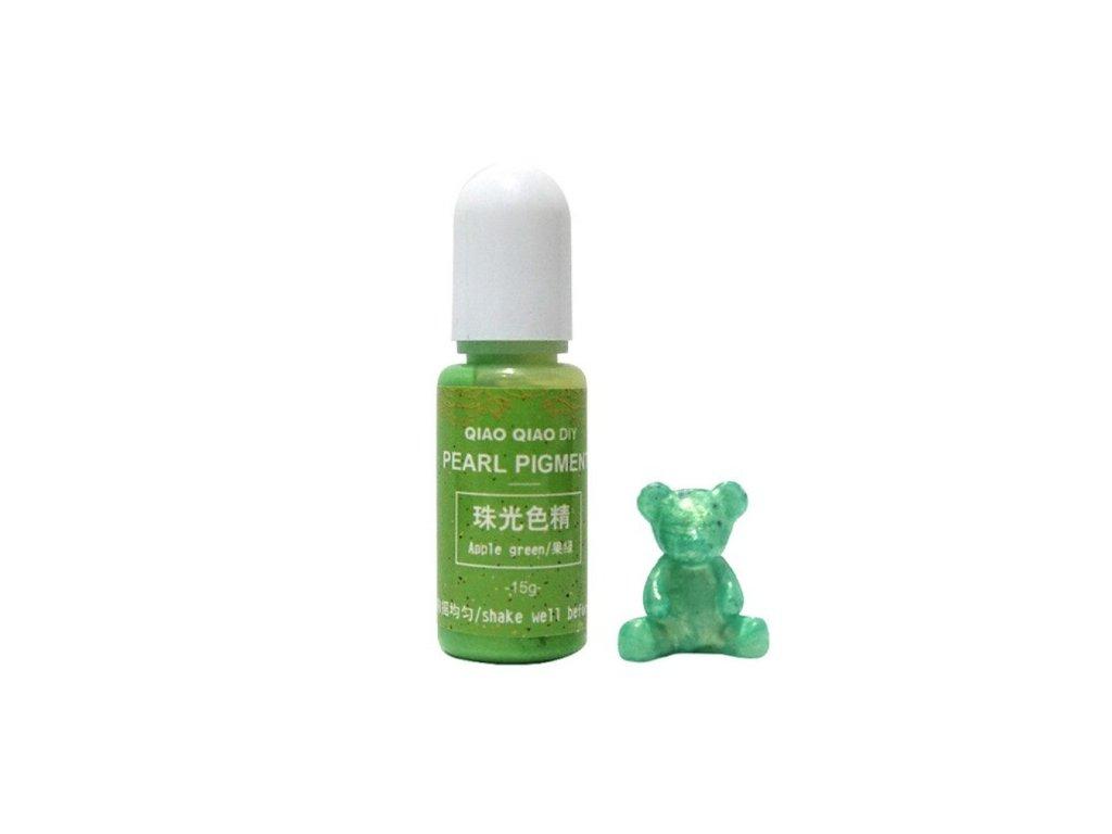 qq pearl pigment do pryskyrice aple green