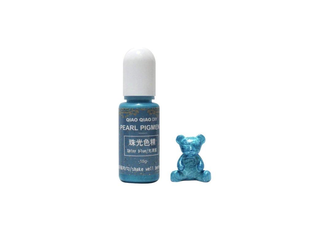qq pearl pigment do pryskyrice shiny blue