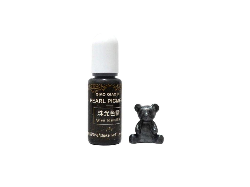 qq pearl pigment do pryskyrice silver black