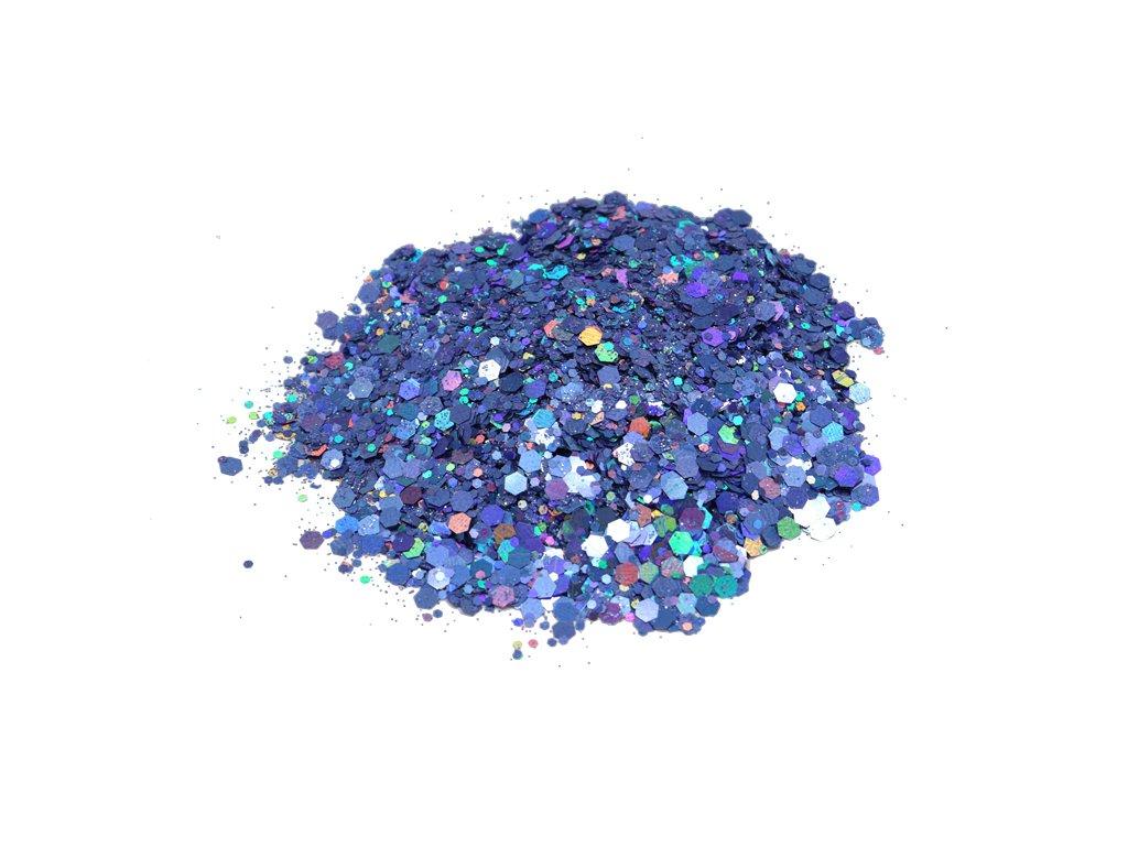 Glitr do pryskyřice Hexagon Fialová zlato modrá 0713 10g