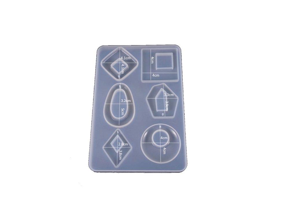 Silikonová forma na přívěsky Tvary 9814 98x145mm