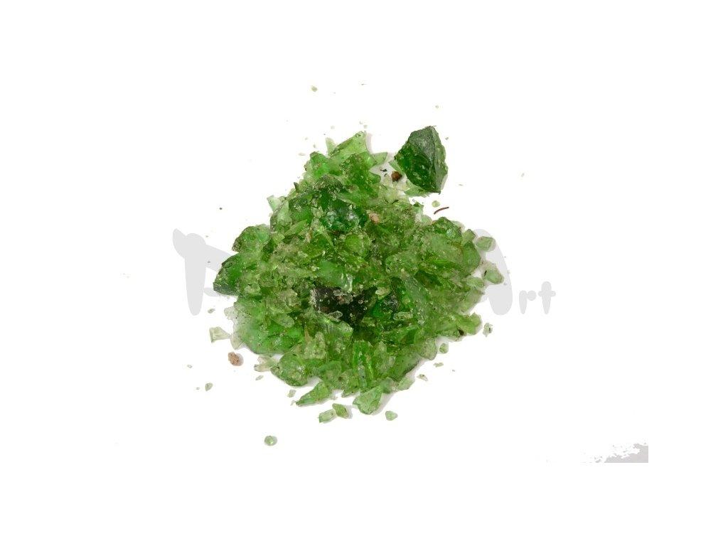 9002 pourart sklenene strepy 52 zelene 2 10mm 200g