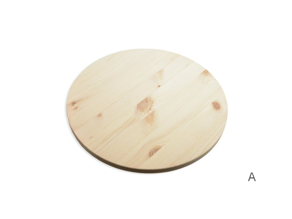 9677 kruhova deska borovice prumer 60cm toustka 18 mm rovny okraj