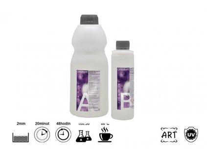 PourArt Epoxidová pryskyřice LENTE Portreto & Geode UV+ 1kg