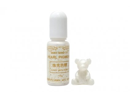 qq pearl pigment do pryskyrice crystal white