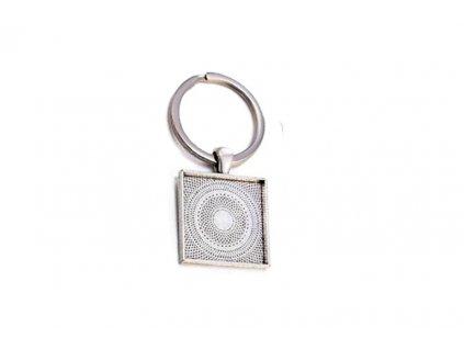Klíčenka stříbrná ČTVEREC TYP 05 25x25mm 5ks