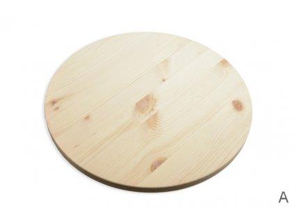 9629 kruhova deska borovice prumer 40cm toustka 18 mm rovny okraj