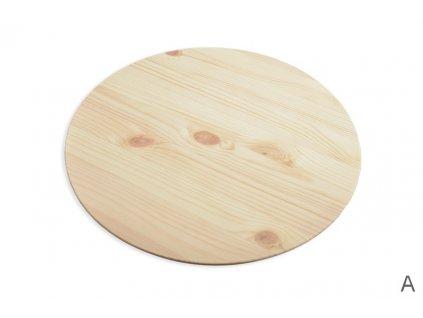 9641 kruhova deska borovice prumer 50cm toustka 18 mm zkoseny okraj