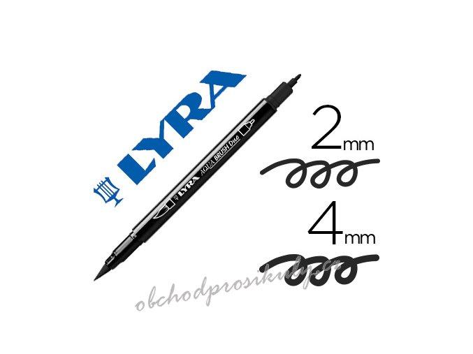 rotulador lyra aqua brush acuarelable 6520099 negro imagen 150914