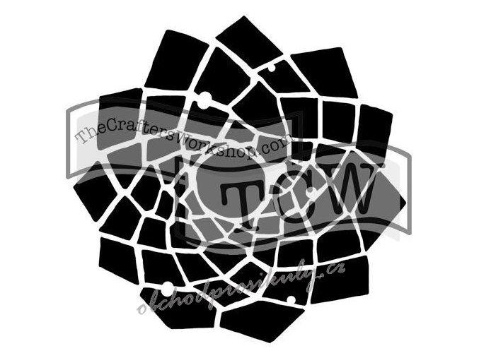 "Šablona 12""x12"" (30,5 x 30,5 cm), Trapezoid Flower"