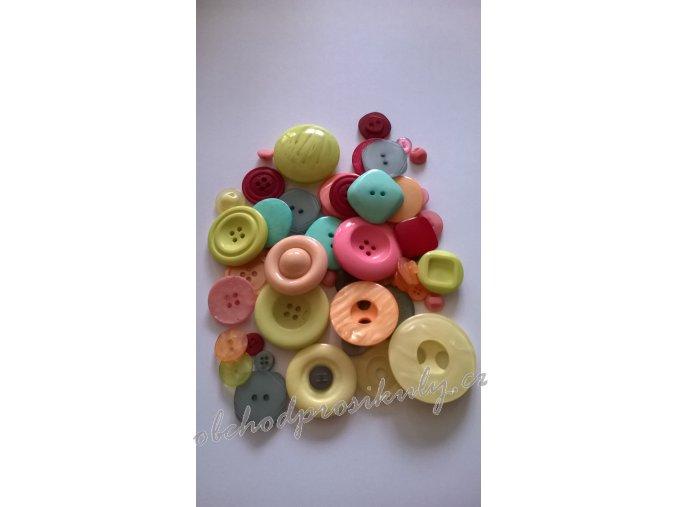 Knoflíky barevný mix, VINTAGE, č. 2