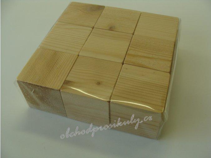 Dřevěné kostky, 9 ks