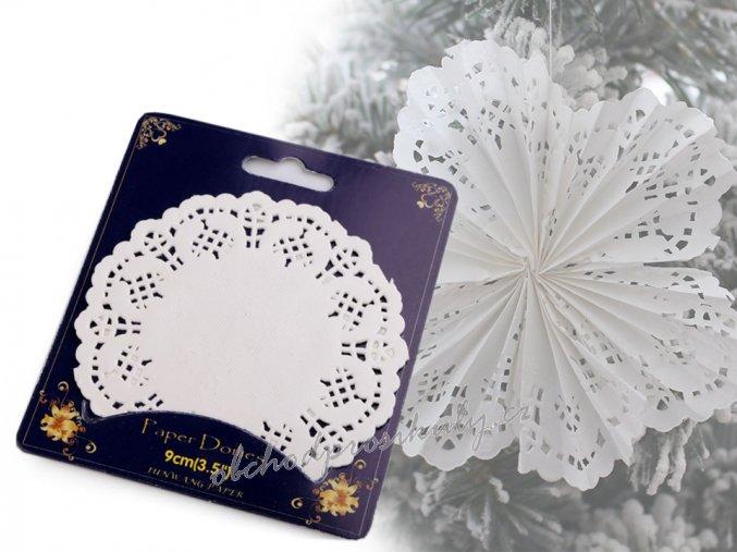 Vánoční papírová krajka rozeta Ø9 cm