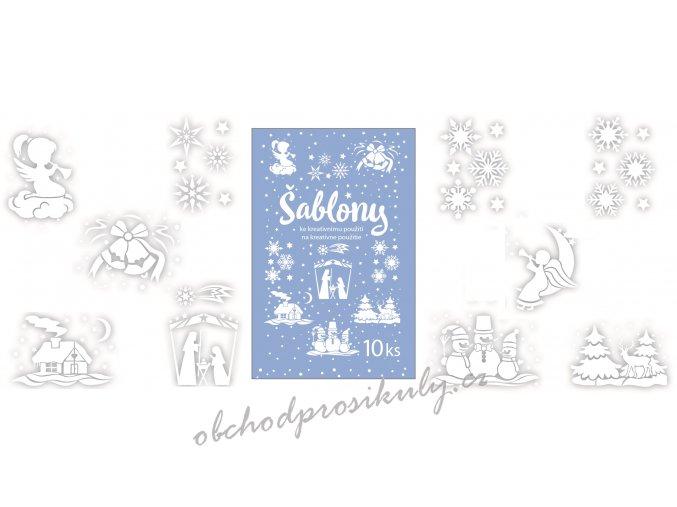 Šablony vánoční 10 motivů 31x21 cm