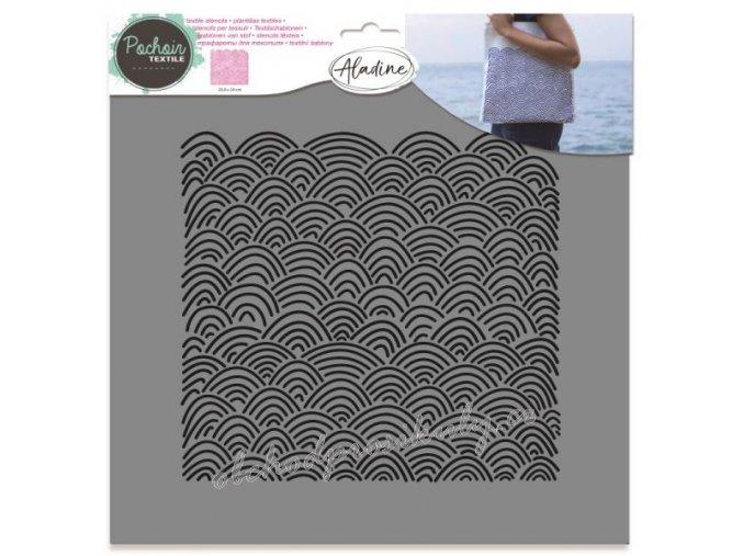 aladine sablona 28x28cm morske vlny