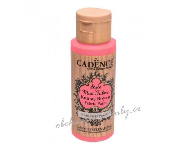 klasicka textilni barva style matt fabric 50ml cukrova ruzova sugar pink