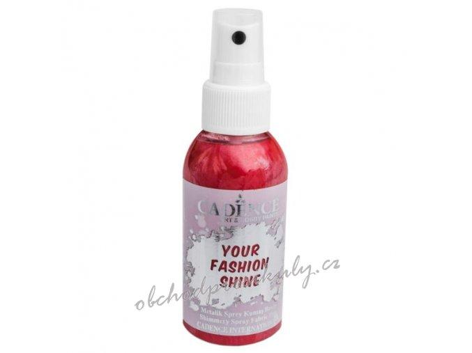 perletovy sprej na tmavy textil 100ml cervena