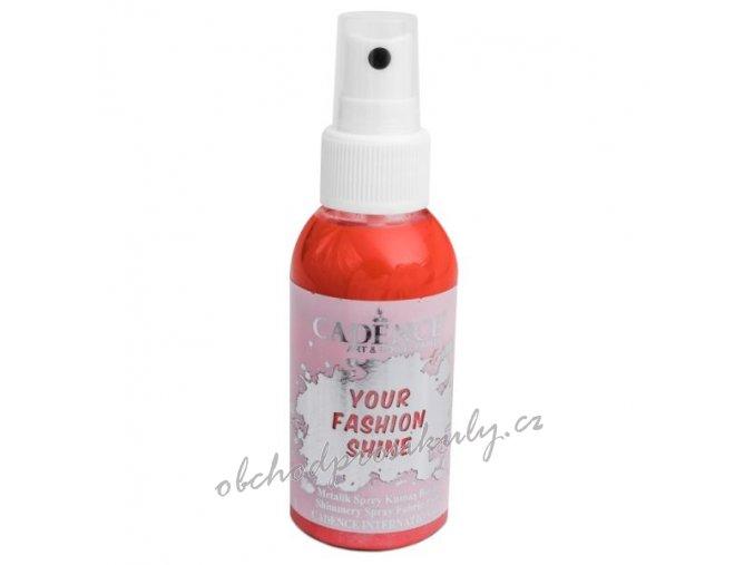 perletovy sprej na tmavy textil 100ml jahodova cervena