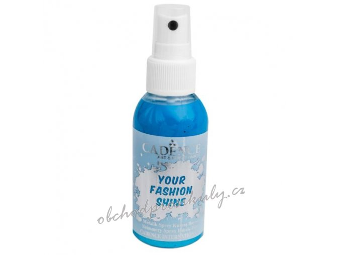 perletovy sprej na tmavy textil 100ml svetle modra